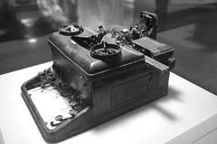 Vieille rétro machine de codage de style Photographie stock libre de droits