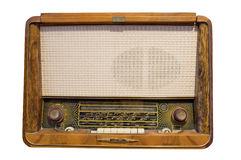 Vieille radio d'isolement dans le blanc Image stock