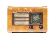 Vieille radio en bois Photo stock