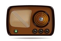 Vieille radio Illustration de vecteur d'un vieux récepteur radioélectrique Images stock