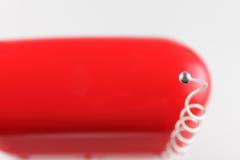 Vieille radio rouge Image stock