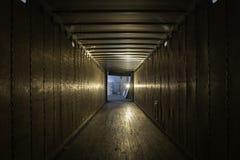 Vieille remorque vide de camion Photo stock