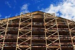 Vieille restauration de bâtiment image stock