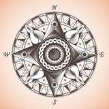 Vieille rose de boussole nautique antique de vintage illustration libre de droits