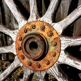Vieille roue photographie stock