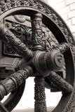 Vieille roue de canon Moscou Kremlin Site de patrimoine mondial de l'UNESCO Image libre de droits