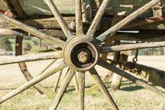 Vieille roue de chariot Image libre de droits
