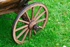 Vieille roue de chariot antique Images libres de droits