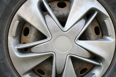 Vieille roue de voiture Photo libre de droits
