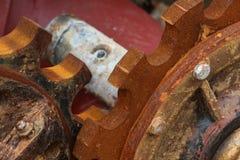 Vieille roue dentée rouillée Images libres de droits