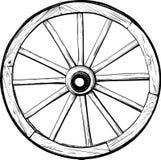 Vieille roue en bois Photo libre de droits