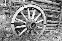 Vieille roue finland Photographie stock