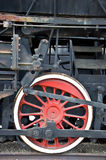 Vieille roue locomotive Photos stock