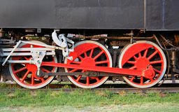 Vieille roue locomotive Photo stock