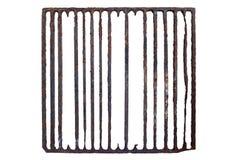 Vieille, rouillée grille de prison Photo stock
