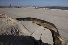Vieille route d'A1A détruite par ouragan Matthew Photos libres de droits
