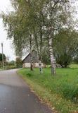 Vieille route de village Image libre de droits