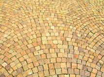 Vieille route en pierre dans le château Images stock