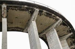 Vieille route italienne incurvée de pont Images stock