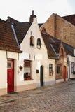 Vieille rue à Bruges flanders belgium photographie stock libre de droits