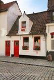 Vieille rue à Bruges flanders belgium photos stock