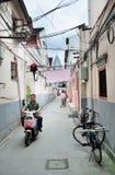 Vieille rue à Changhaï Images libres de droits