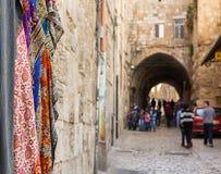 Vieille rue à Jérusalem Image libre de droits