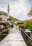 Vieille rue à Mostar Photos stock