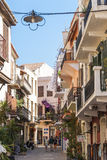 Vieille rue Chania de ville Image libre de droits
