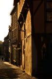 Vieille rue dans des Frances de Vitré Photos libres de droits