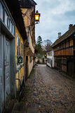 Vieille rue de copplestone - Aarhus, Danemark Photographie stock
