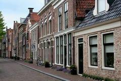 Vieille rue de Franeker images stock