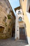 Vieille rue de Porec, Croatie Images libres de droits