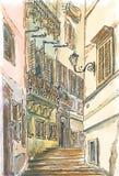 Vieille rue de Rome illustration libre de droits