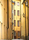 vieille rue de Stockholm Photos libres de droits