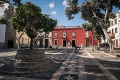 Vieille rue de ville dans le Las Palmas sur mamie Canaria Photographie stock
