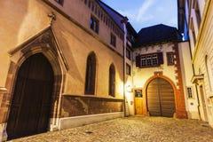 Vieille rue de ville de Bâle Photos stock