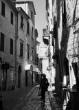 Vieille rue de ville de Kotor Images libres de droits