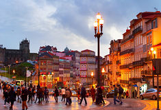 Vieille rue de ville de Porto portugal Photo libre de droits