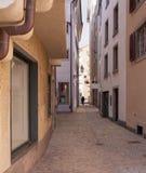 Vieille rue de ville de Zurich Images libres de droits