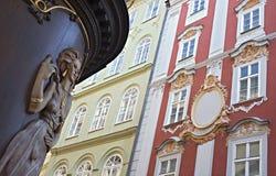 Vieille rue de ville, Prague Photo stock