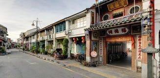 Vieille rue, George Town, Penang, Malaisie photo libre de droits