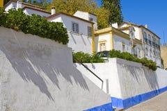 Vieille rue, Obidush, Portugal Images libres de droits