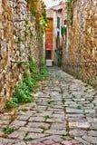 Vieille ruelle en Toscane Images libres de droits