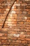 Vieille ruine de mur de temple de statue photographie stock libre de droits