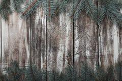 Vieille, rustique texture en bois avec les modèles naturels et fissures sur la surface Fond de Noël Images libres de droits