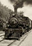 Vieille sépia locomotive photographie stock