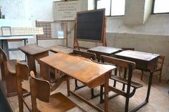 Vieille salle de classe Photos stock
