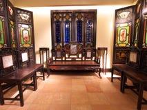 Vieille salle de séjour chinoise Photo stock