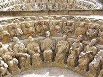 Vieille sculpture en orchestre Photo stock